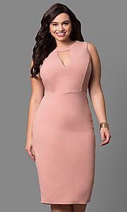 Blush Pink Short Sleeveless Wedding Guest Dress