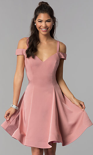 Short Pink Dresses for Women