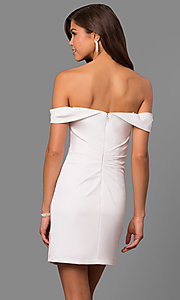 Image of short off-the-shoulder Faviana homecoming dress. Style: FA-8050 Back Image