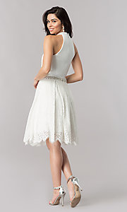 Image of short Nina Canacci high-collar homecoming dress. Style: NC-105 Detail Image 2