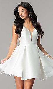 Image of short JVN by Jovani open-back homecoming dress. Style: JO-JVN-JVN53360 Detail Image 2