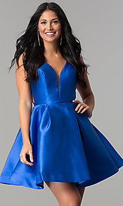 Image of short JVN by Jovani open-back homecoming dress. Style: JO-JVN-JVN53360 Detail Image 3