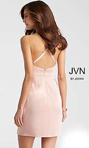 Image of JVN by Jovani homecoming dress with plunging v-neck. Style: JO-JVN-JVN57292 Back Image