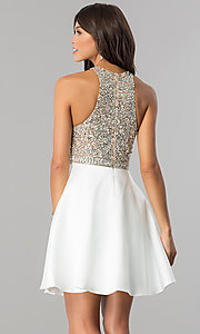 Image of embellished-bodice homecoming dress with pockets. Style: JO-JVN-JVN57782 Back Image