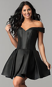 JVN by Jovani Fit-and-Flare Homecoming Dress