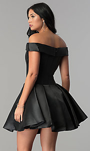 Image of JVN by Jovani short fit-and-flare prom dress. Style: JO-JVN-JVN57854 Back Image