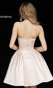 Image of short Sherri Hill homecoming dress with pockets. Style: SH-51390 Back Image