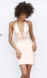 Sherri Hill Short Halter Homecoming Dress