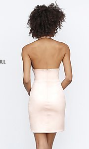 Image of Sherri Hill short halter homecoming party dress. Style: SH-51420 Back Image