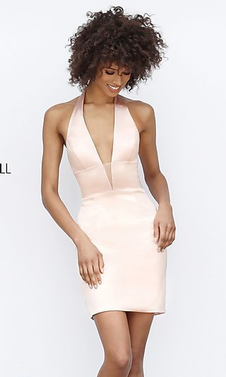 Sherri Hill Short Halter Homecoming Party Dress