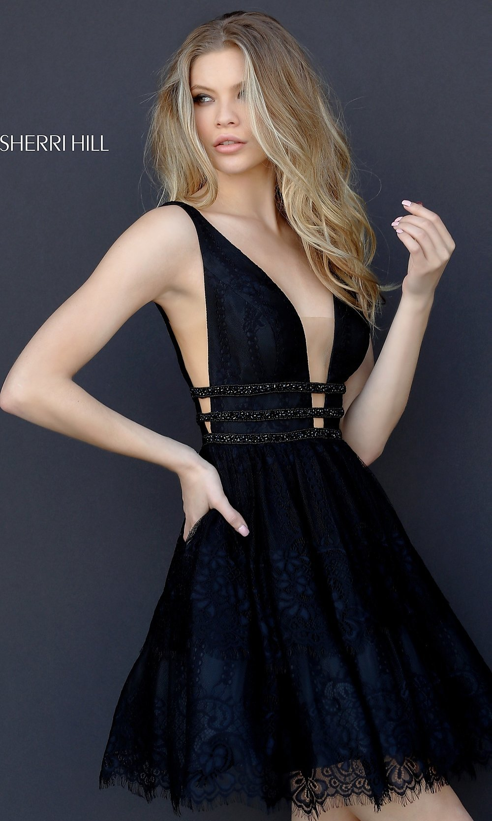 23ff827b9283 ... party dress with deep v-neck. Style  SH. Tap to expand