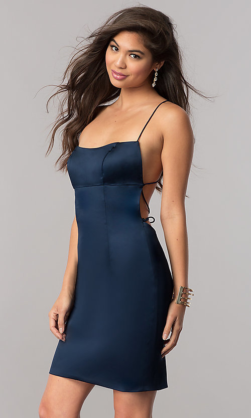 Image of Sherri Hill empire-waist open-back short party dress.  Style: SH-51500 Detail Image 2