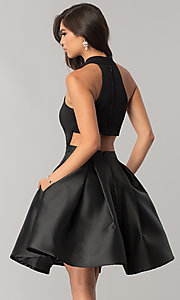 Image of JVNX by Jovani short black homecoming dress. Style: JO-JVNX43019 Back Image