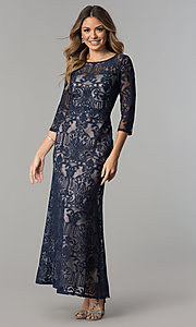 Lace Mother-of-the-Bride Dress with Sleeves