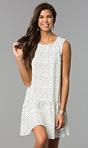 Polka Dot Short Casual Shift Party Dress