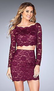 Long-Sleeve Two-Piece Homecoming Dress