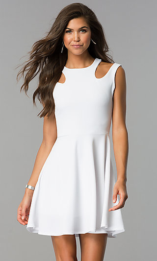 Graduation Dresses, Casual White Dresses - PromGirl