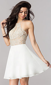Chiffon Homecoming Dress with a Keyhole Cut Out