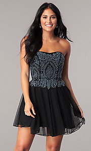 Short Fit and Flare Primavera Homecoming Dress