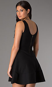 Image of short sleeveless royal party dress with scoop neck. Style: CH-2399w Back Image