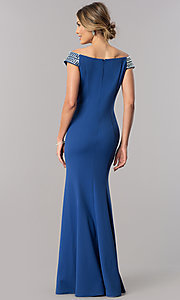 Image of long off-the-shoulder mother-of-the-bride dress. Style: AX-160116 Detail Image 2
