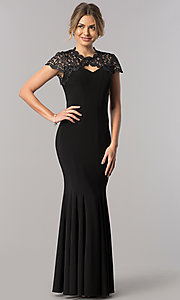Long Formal Wedding Guest Dress with High Neck