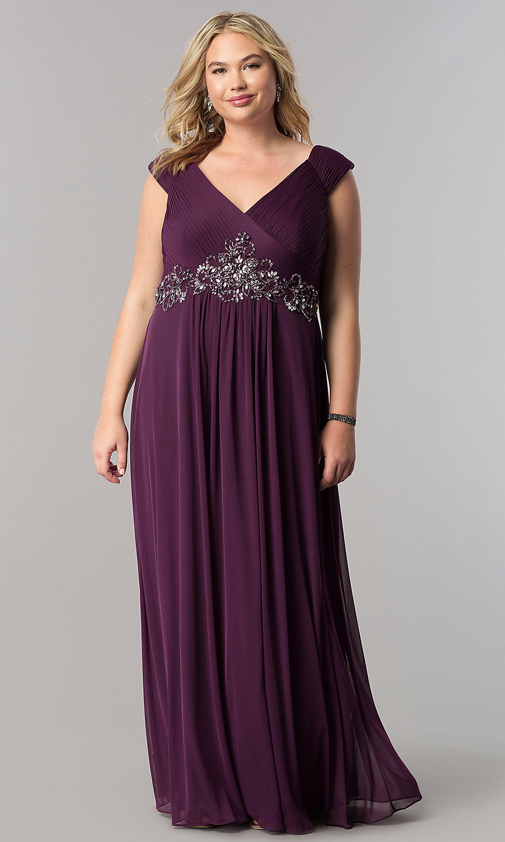 Purple Plus-Size Mother-of-the-Bride Dress - PromGirl