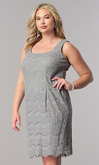 Plus Size Mother Of The Bride Lace Dress Promgirl