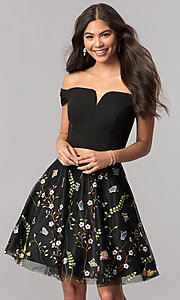 Faviana Embroidered Two-Piece Homecoming Dress