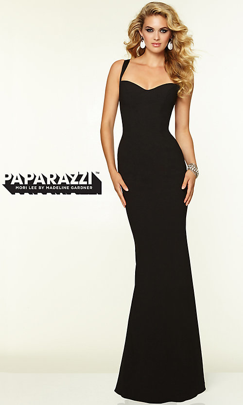 Image of Mori Lee long open-back prom dress with pockets. Style: ML-97099-v Front Image