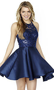 Short Jolene Sequin Bodice Homecoming Dress
