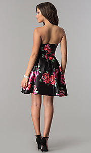 Image of Jolene strapless floral-print sweetheart hoco dress. Style: JOJ-JE-17540 Detail Image 3