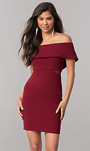 Short Off-the-Shoulder Homecoming Party Dress