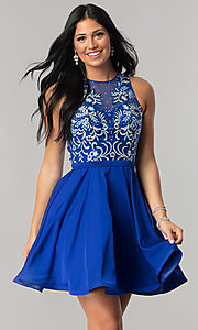 Homecoming Dress with Embroidered Bodice