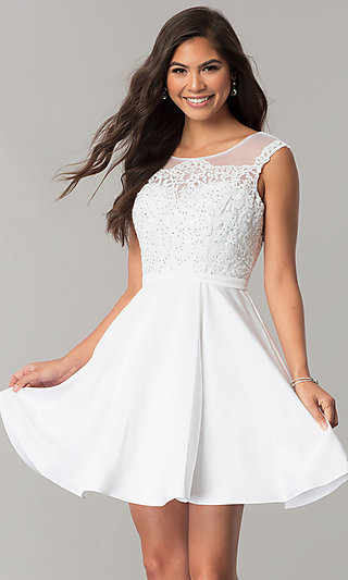 White and Ivory Reception Dresses PromGirl