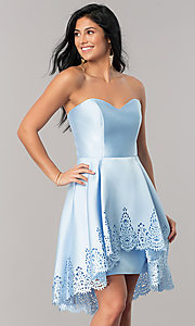 Strapless Sweetheart High-Low Homecoming Dress