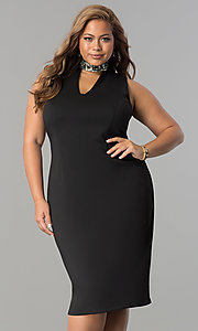 Short Plus-Size Wedding-Guest Dress