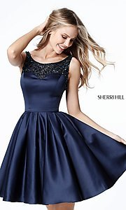 A-Line Sherri Hill Homecoming Dress