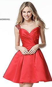 Sherri Hill Sweetheart Short Homecoming Dress