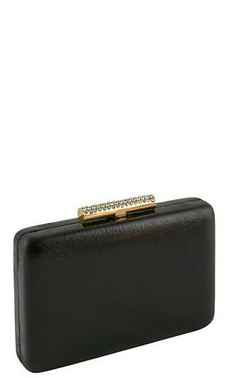 Gold-Top Jewel Box Clutch