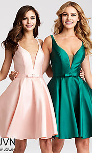 Fit-and-Flare Homecoming Dress with a Bow