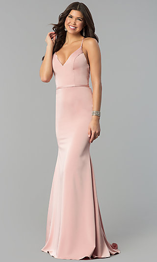 Sleeveless Open-Back JVN by Jovani Long Prom Dress a9fa9a160