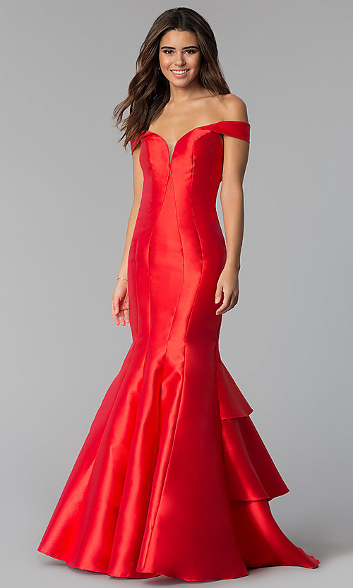 Image of off-the-shoulder mermaid JVNX by Jovani prom dress. Style: JO-JVNX59261 Detail Image 3