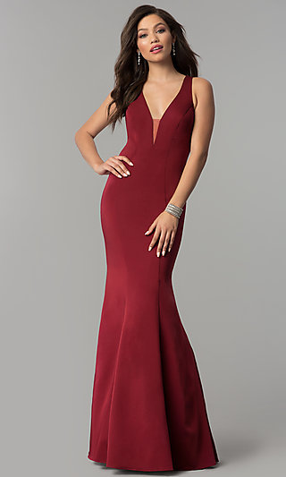 JVNX by Jovani Long Mermaid Prom Dress with Open Back