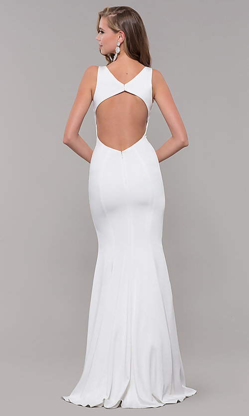 Image of JVNX by Jovani long mermaid prom dress with open back. Style  JO c4c51a8a7