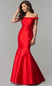 JVNX by Jovani Long Mermaid Prom Dress in Taffeta