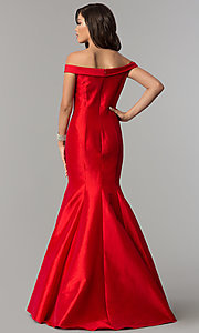 Image of JVNX by Jovani long mermaid prom dress in taffeta. Style: JO-JVNX51863 Back Image