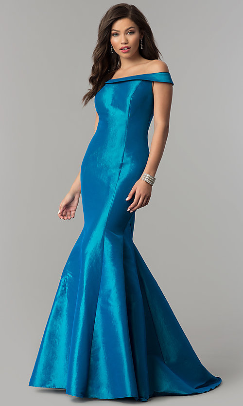 Image of JVNX by Jovani long mermaid prom dress in taffeta. Style: JO-JVNX51863 Detail Image 3