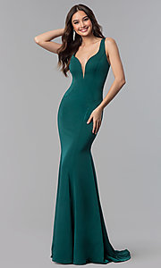 Image of long open-back formal prom dress by Alyce Designs. Style: AL-60002 Detail Image 3
