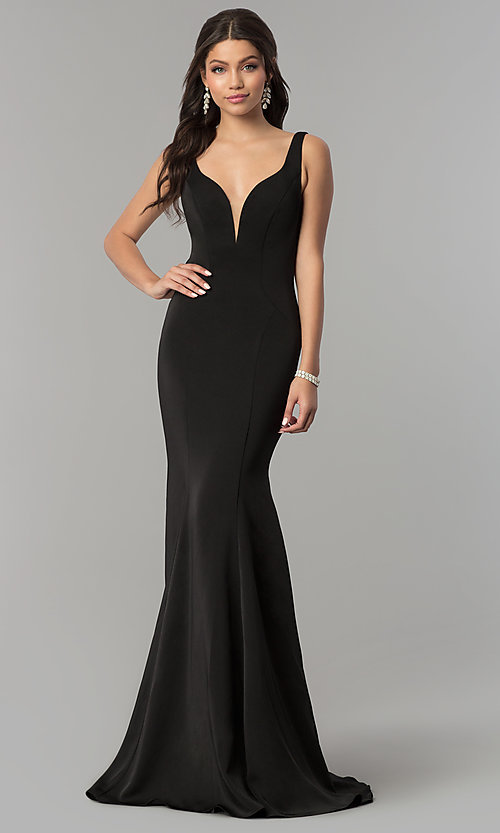 Image of long open-back formal prom dress by Alyce Designs. Style: AL-60002 Front Image